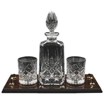 Decanter & 2 Spirit Glasses on Tray