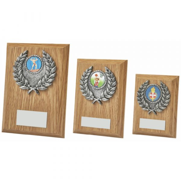 Light Oak Rectangular Plaque Award