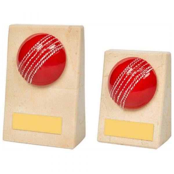 Cream Marble Wedge with Cricket Ball