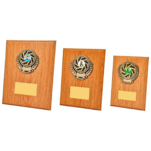 Light Oak Wood Plaque Award