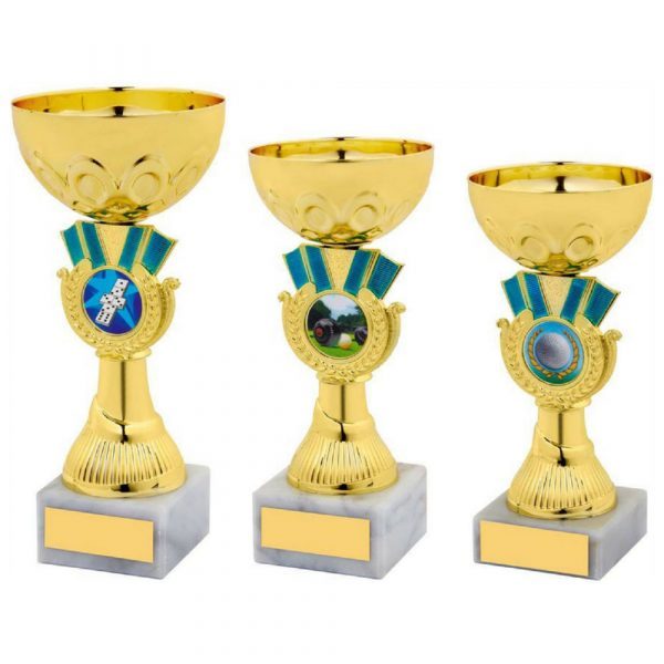 Gold/Blue Trophy Cup